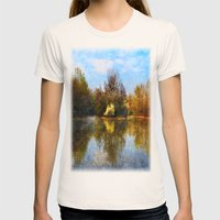 Autumn Lake Womens Fitted Tee Natural SMALL