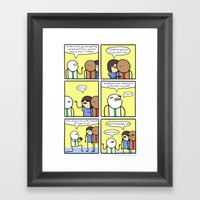 Antics #329 - swing and a miss Framed Art Print