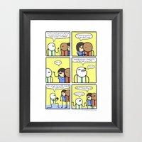 Antics #329 - Swing And … Framed Art Print
