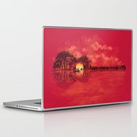 sunset Laptop & iPad Skins featuring Musical Sunset by dan elijah g. fajardo