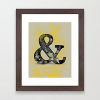 Ampersand Series - Baske… Framed Art Print