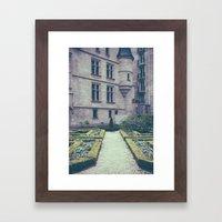 French Garden Maze II Framed Art Print
