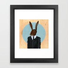 David Lynch | Rabbit Framed Art Print