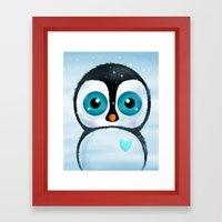 Joc the Penguin Framed Art Print