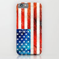 iPhone Cases featuring American Flag Art - Old Glory - By Sharon Cummings by Sharon Cummings