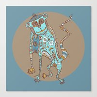 Blue Monkey Canvas Print