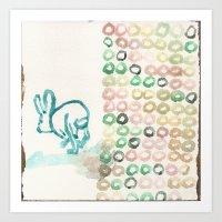 The Jumping Rabbit Migraine Art Print