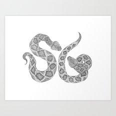 Society Snakes Art Print