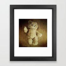 Old Teddy Bear Framed Art Print