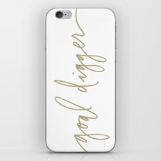 Goal Digger - Gold Print  iPhone & iPod Skin