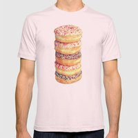 Stack Of Donuts Mens Fitted Tee Light Pink SMALL