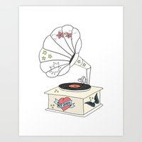 Music Grandpa Art Print