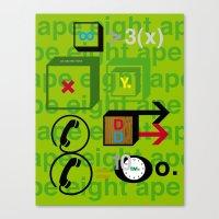 Ape Eight Ape Canvas Print