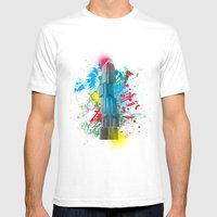 IFC Hong Kong Abstract Mens Fitted Tee White SMALL