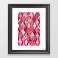 Wild Pink & Pretty Diamo… Framed Art Print