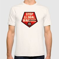 STOP GLOBAL MING ! Mens Fitted Tee Natural SMALL