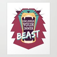 Unleash Your Inner Beast Art Print