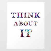 Space: Think About It Art Print