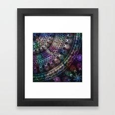 Galaxy Mandala Framed Art Print