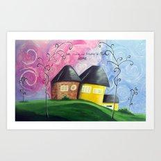 House A Home Art Print