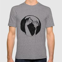 Moonlight Hands Mens Fitted Tee Athletic Grey SMALL