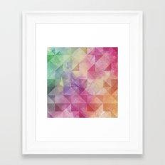 Triangles Pattern Framed Art Print