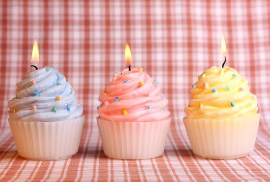 Cupcake candles Art Print