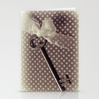 Vintage Key Stationery Cards