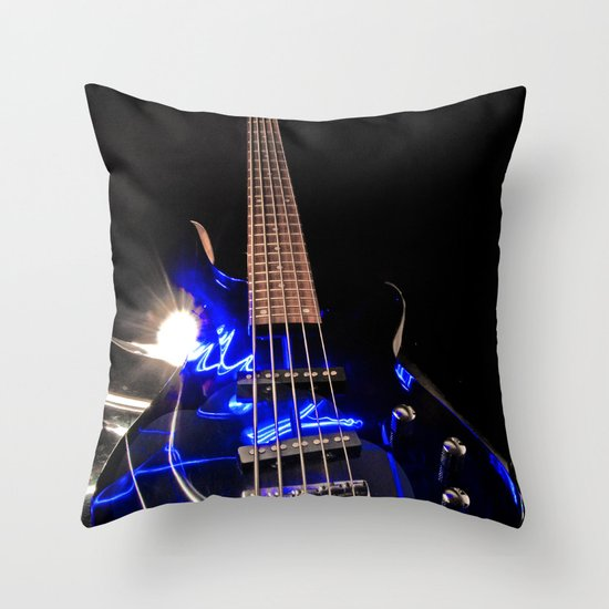 Turn up the bass  Throw Pillow