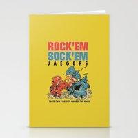 ROCK 'EM, SOCK 'EM JAEGERS Stationery Cards