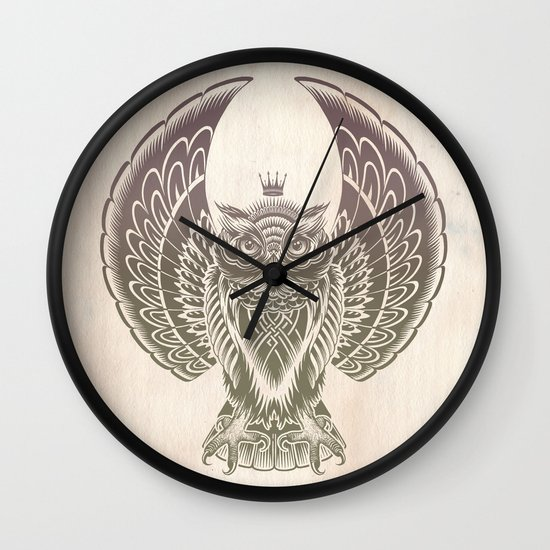 Silent Flight (Owl Wings) Wall Clock