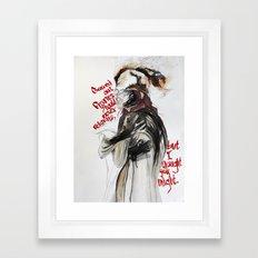 Burning Like A Bridge Through Your Body Framed Art Print