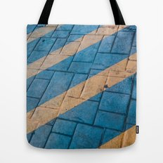 Yellow Lines at the ground Tote Bag