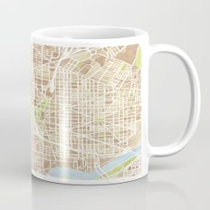 Washington DC watercolor city map Mug
