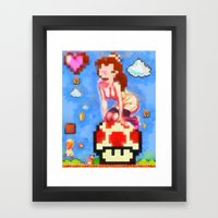 princess peach pinup #8 Framed Art Print