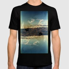 Landscapes c13 (35mm Double Exposure)  SMALL Black Mens Fitted Tee