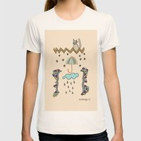 Watching Over Us Womens Fitted Tee Natural SMALL
