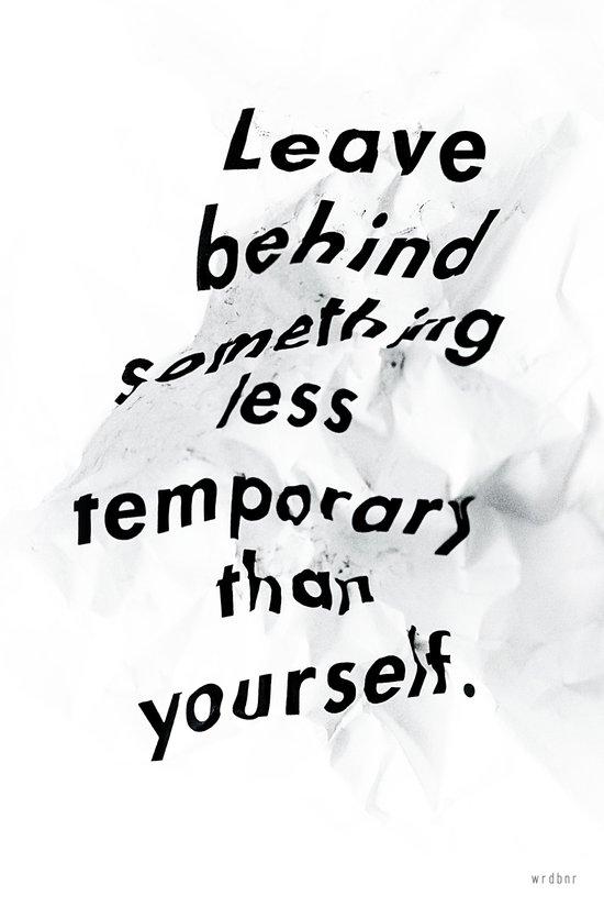 Leave something behind Canvas Print