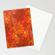 Vintage floral linen fabric  Stationery Cards