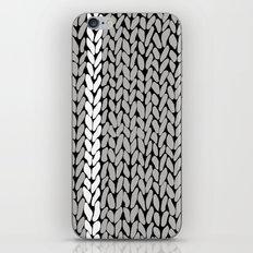 Grey Knit With White Stripe iPhone & iPod Skin