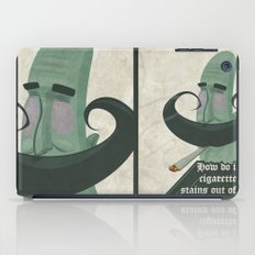 Tar mustache iPad Case