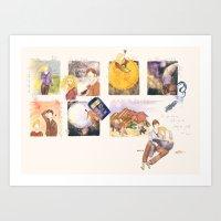 Acts Like Summer, Walks … Art Print