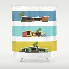 Mid Century Modern Houses 2 Shower Curtain