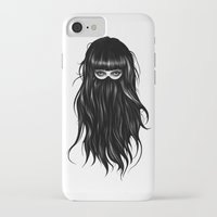 orange iPhone & iPod Cases featuring It Girl by Ruben Ireland