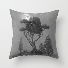 Dark Side Of The Forest  Throw Pillow