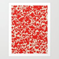 Earth Red Art Print