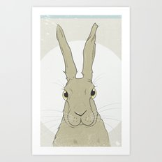 Golden Hare No.2 Art Print