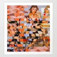 Glitch Pin-Up: Whitney Art Print