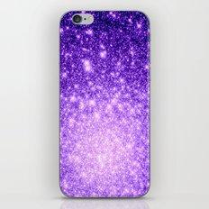 Purple Stars Ombre iPhone & iPod Skin