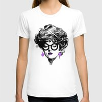 Gibson Girl Modern Womens Fitted Tee White SMALL
